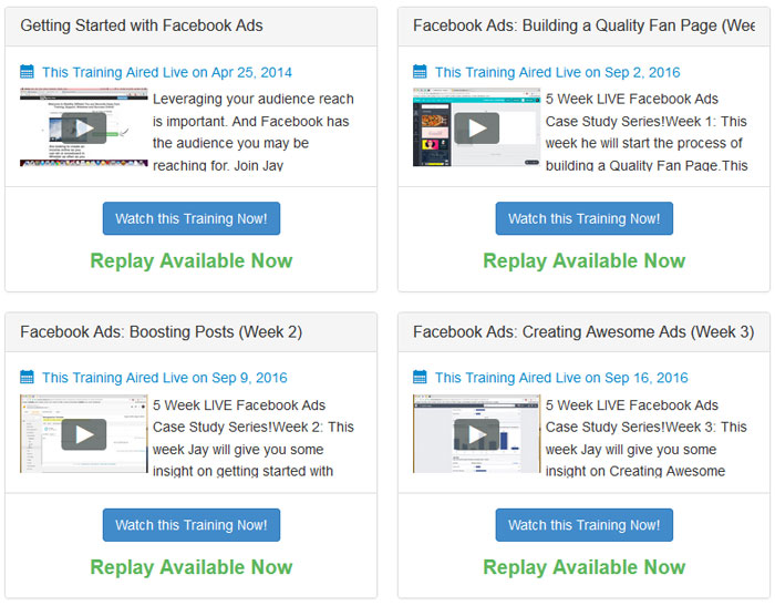 Four Training Modules from Wealthy Affiliate's Famous Live Training Host, Jay (Magistudios)
