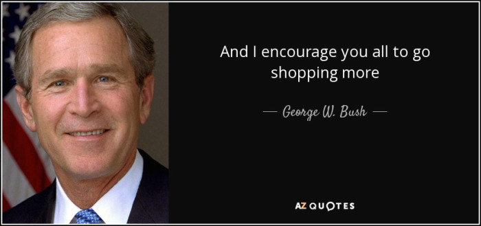 President George Bush Encouraging Americans to Shop